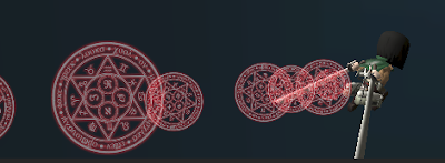 Red Magic Circle Gas