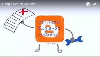 Mendaftarkan dan Verifikasi blog ke Search Engine Google