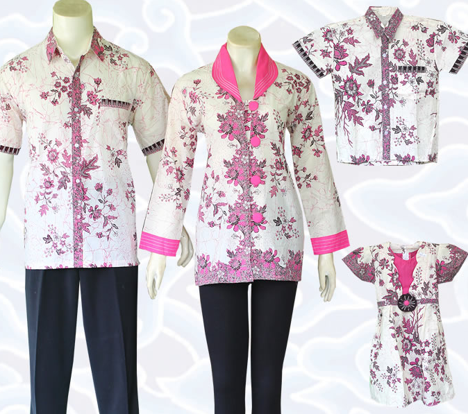 model baju batik sarimbit untuk pakaian seragam keluarga