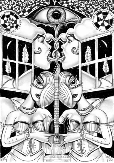 Surreal Erotic Art Drawing
