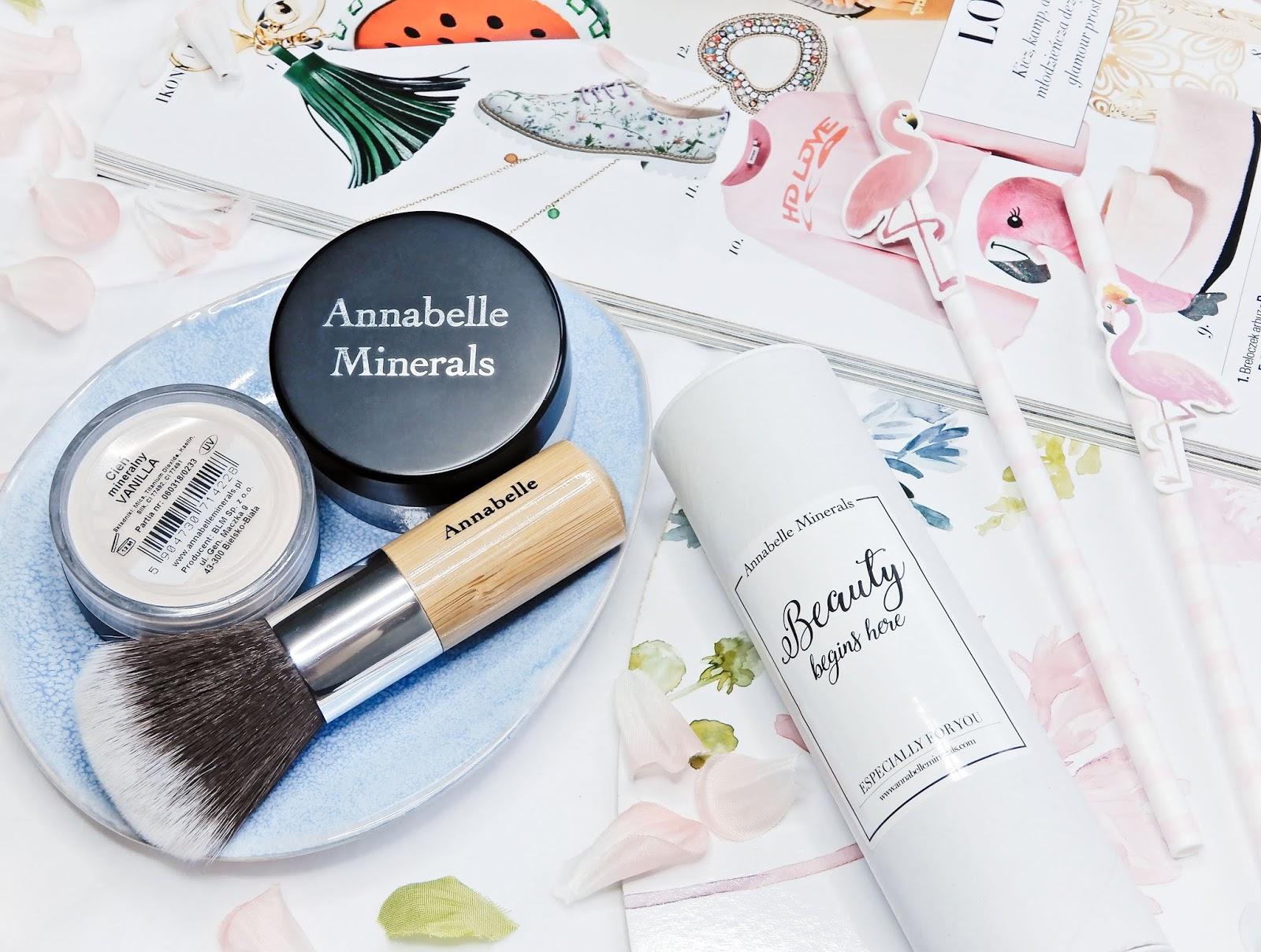 Annabelle Minerals podkład mineralny, Annabelle Minerals pędzel kabuki, Annabelle Minerals cień vanilla, Annabelle Minerals,