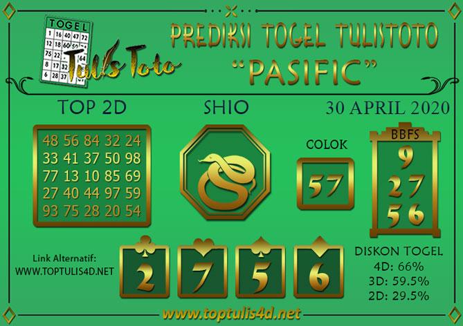 Prediksi Togel PASIFIC TULISTOTO 30 APRIL 2020