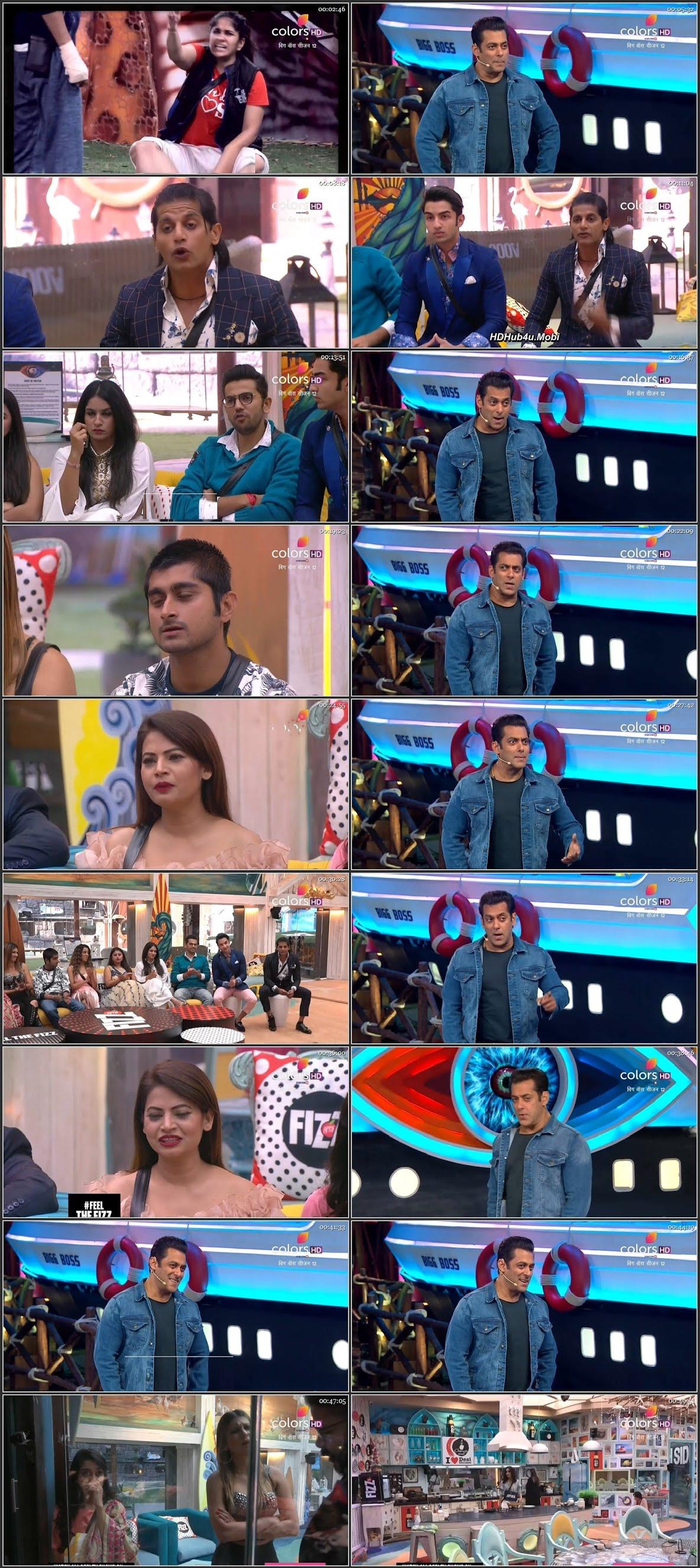 Screenshots Of Hindi Show Bigg Boss 12 24th November 2018 Episode 69 300MB 480P HD