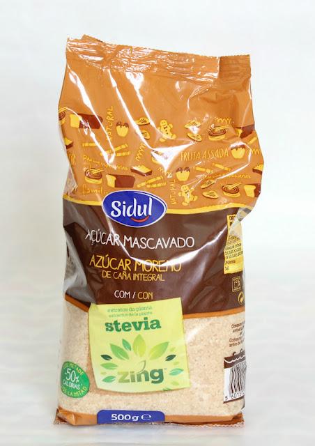 disfrutabox azúcar moreno de caña integral con stevia sidul