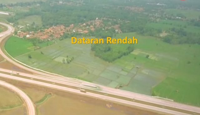 contoh dataran rendah di indonesia
