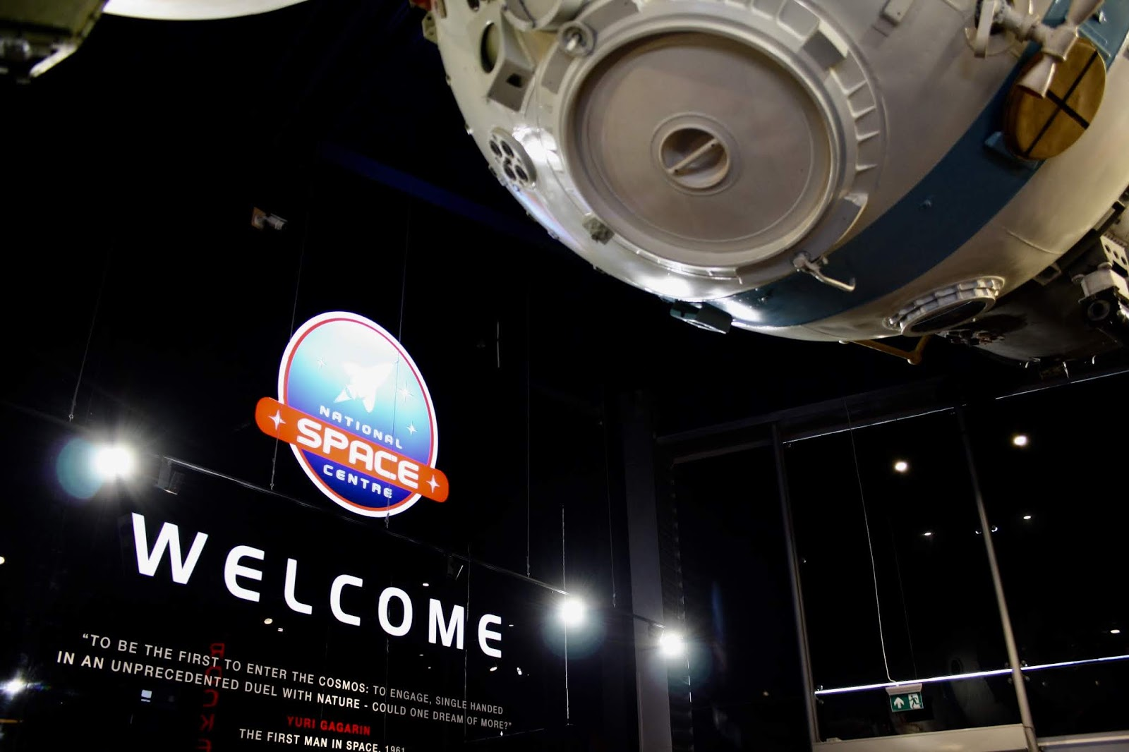 the entrance hall of the national space centre, Leicester