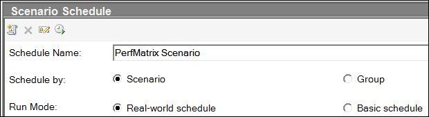 LoadRunner - Scenario Schedule Modes