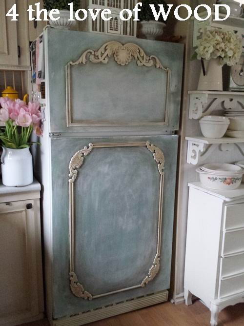 4 the love of wood: PAINTING MY FRIDGE - with annie sloan chalk paint
