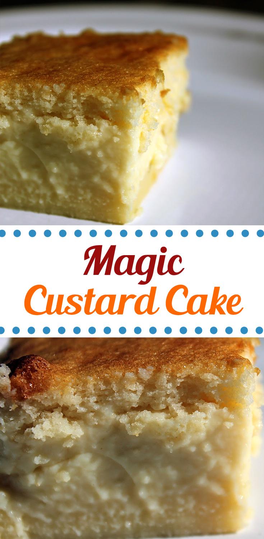 Magic Custard Cake Fresh From The