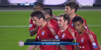 UEFA-4 : Barcelona 0 vs 3 Bayern Munich 01-05-2013