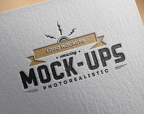 Paper Logo MockUps PSD