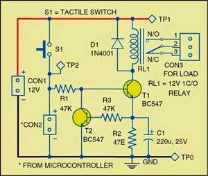 Simple Power-Saving Relay Driver Circuit Diagram