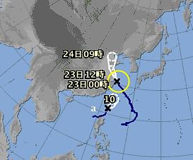 気象情報画面