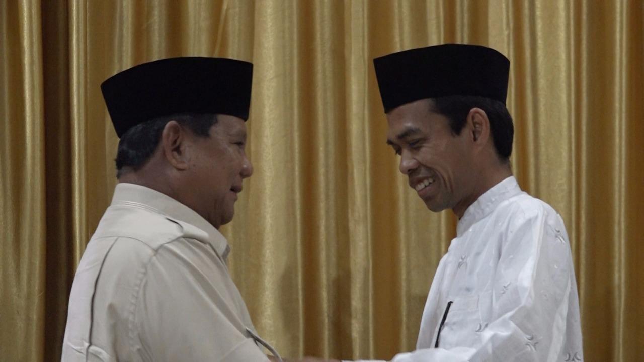 Eksklusif! Suasana Pertemuan Ustadz Abdul Somad dan Prabowo Jelang Deklarasi