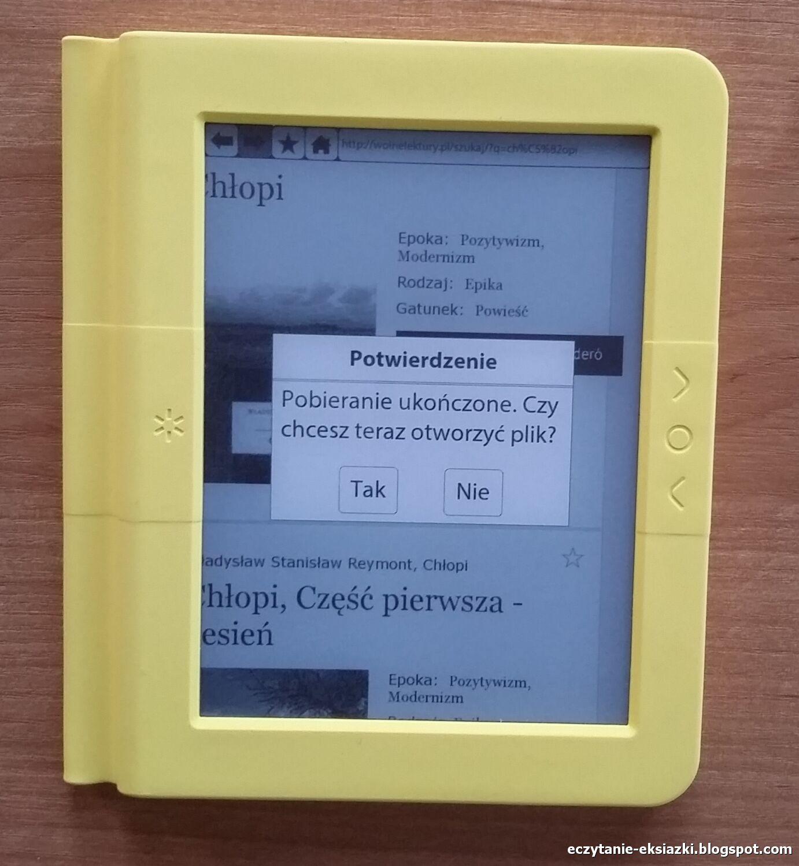 Bookeen Saga - ukończone pobieranie e-booka z serwisu wolnelektury.pl
