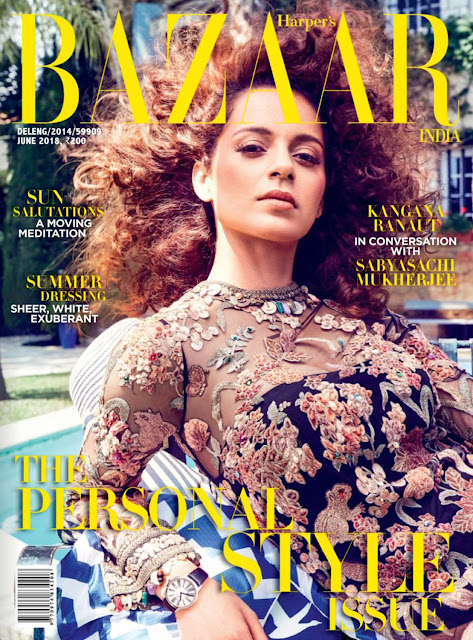 Kangana Ranaut on Harper's Bazaar June 2018 Issue