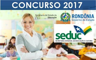 Concurso SEDUC-RO 2017 Técnico Educacional