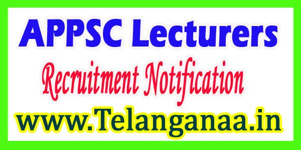 APPSC Lecturers Post Recruitment Notification Online