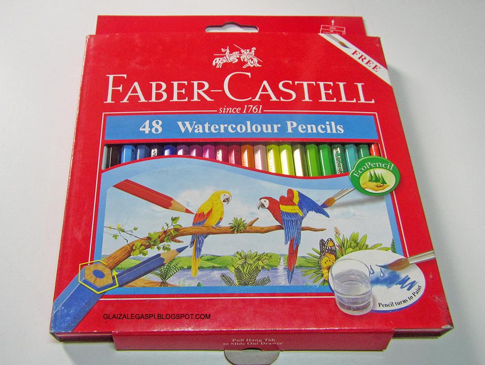 fabercastell 48pc watercolor pencils  color chart