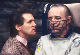 The Silence of the Lambs, Anthony Heald as Dr. Fredrick Chilton, with Hannibal Lecter