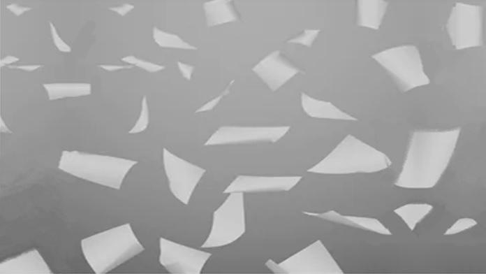 Impossibile raccogliere i pezzi di carta sparsi - Anonimo