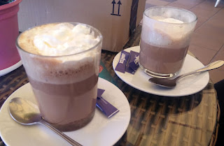 Lovely hot chocolates that went down very fast