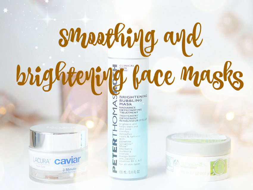 brightening and smoothing face masks
