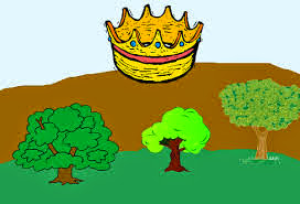 Fábula para niños los Arboles que querían Rey, fábulas cortas con moraleja