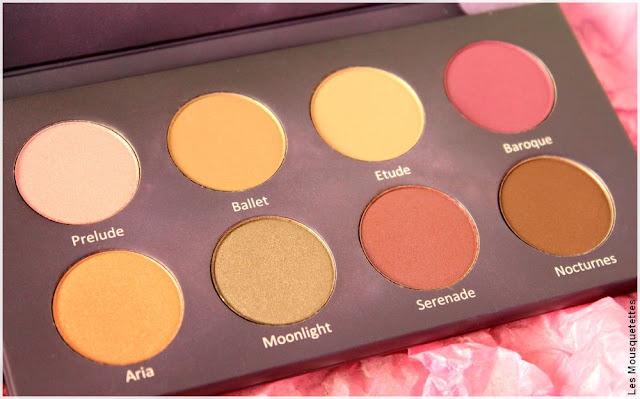 ColorsandMakeup, palettes de fards à paupières Serenade - Blog beauté