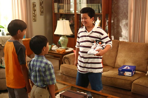 Forrest Wheeler, Ian Chang y Hudson Yang en Fresh Off the Boat