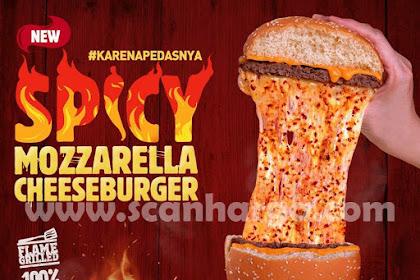 Menu Terbaru Dari Burger King - Spicy Mozzarella CheeseBurger | Harga Hanya Rp 42.727