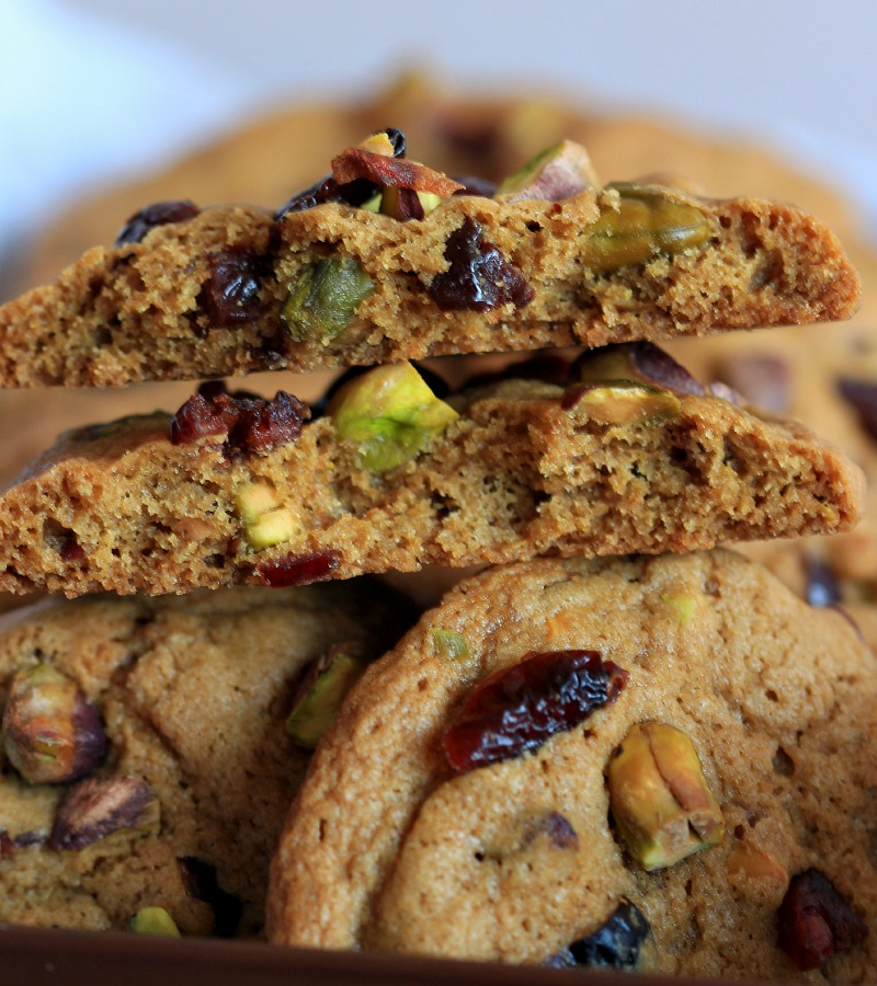 My Bare Cupboard Thick And Chewy Cranberry Pistachio Cookies