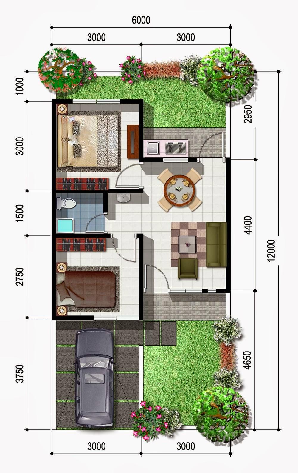 Gambar Desain Rumah Minimalis Type 45 72 Terbaru Desain Rumah