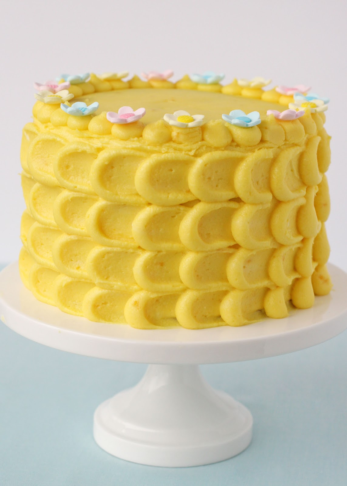 Pretty Spring Cake Vanilla Cake With Lemon Filling