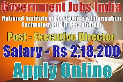 NIELIT Recruitment 2017 Director Post Apply Online