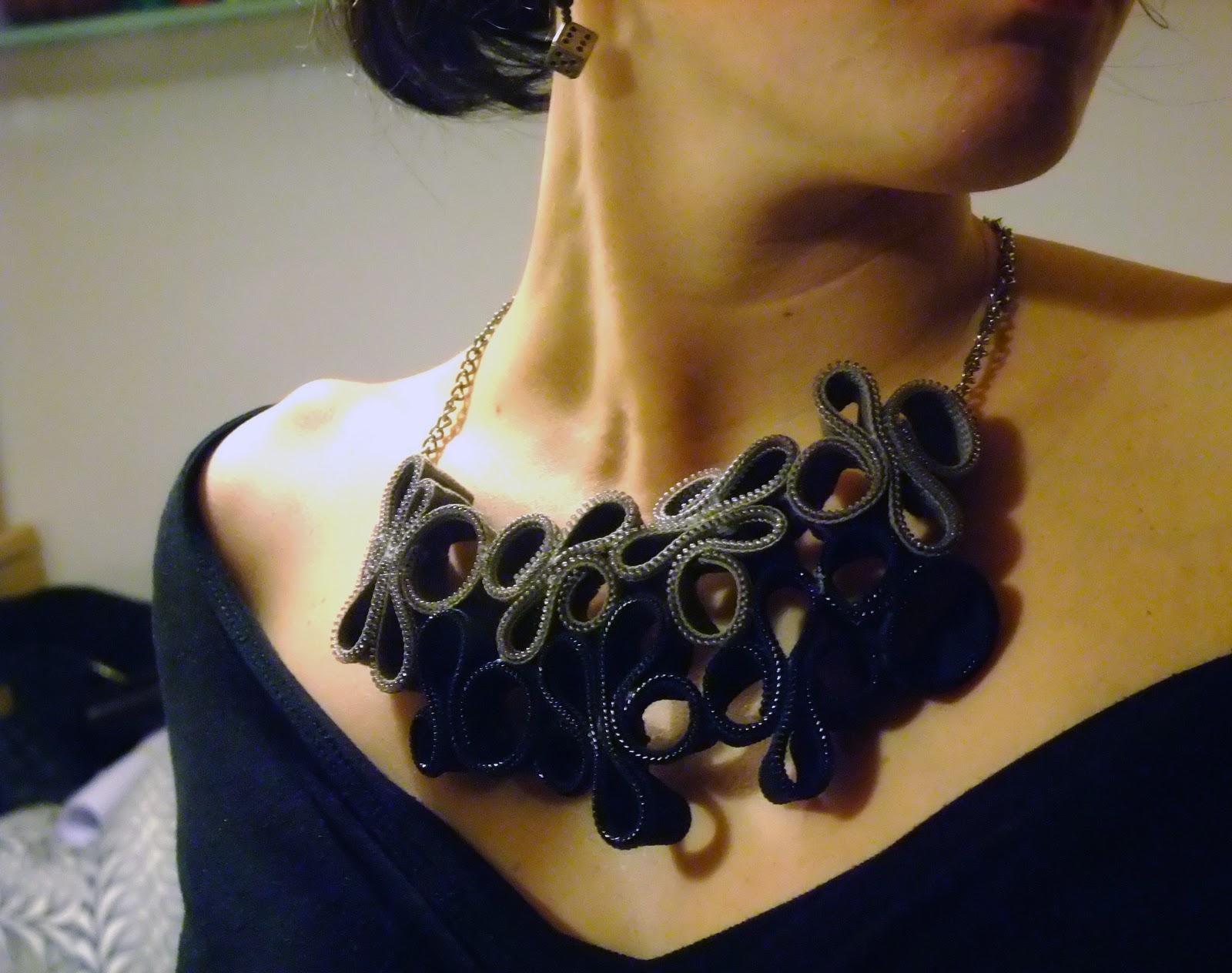 Super NoxCreare: Zipper necklace-collana di cerniere AF28