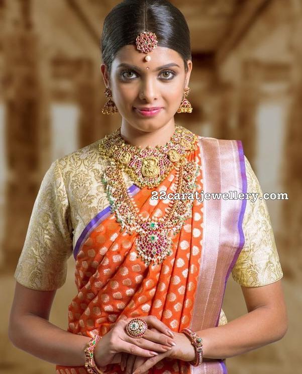 Model in Temple Jewellery