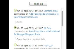 Expandable Recent Comments Widget for Blogger/Blogspot
