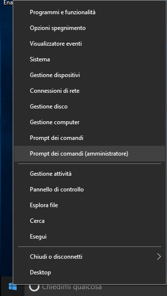 Windows 10, Prompt dei comandi (amministratore)