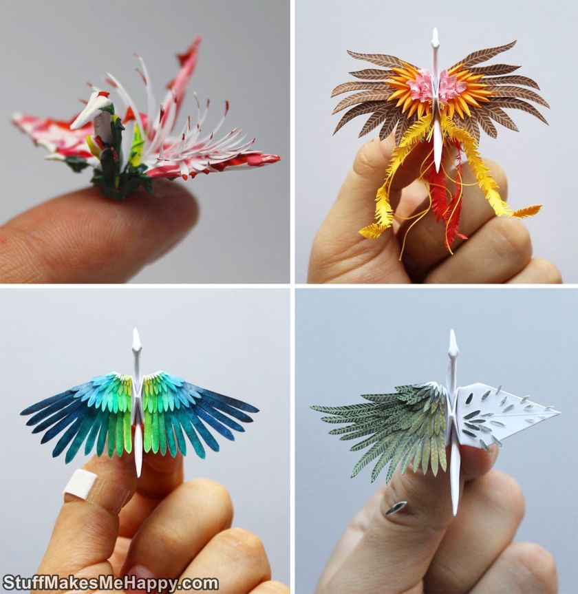 Paper Art and Craft, Beautiful Origami Paper Cranes