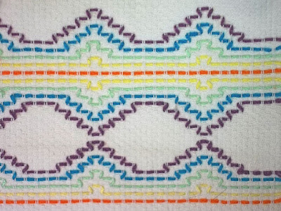 simple stitch pattern repeated two different ways