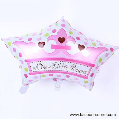 Balon Foil Mahkota A New Little Princess