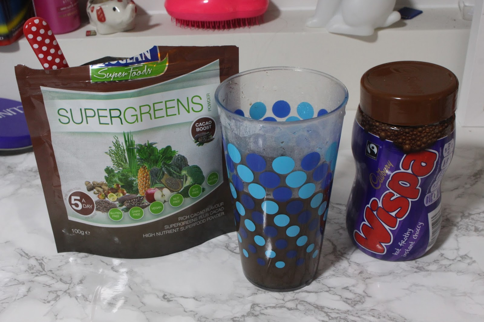 supergreen superfoods Bioglan Wispa