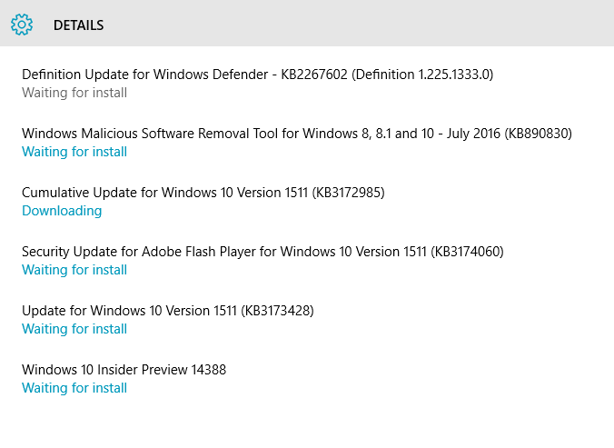 windows update 1511 download