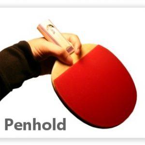 cara memegang bet penhold grip