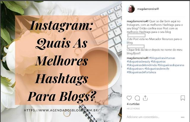Instagram: Publicação com linhas puladas