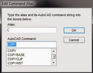 Mengganti perintah / command pada Autocad : Dasar