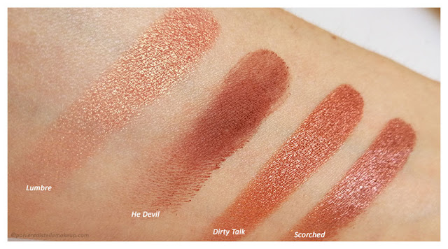 Naked Heat Urban Decay Lumbre-He Devil- Dirty Talk-Scorched