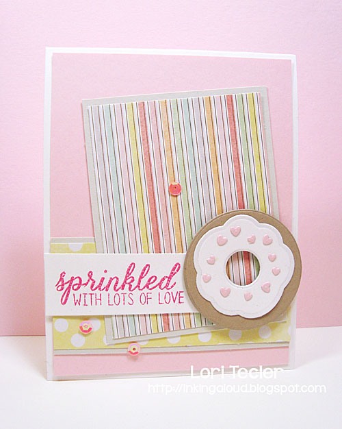 Sprinkled with Lots of Love card-designed by Lori Tecler/Inking Aloud-stamps and dies from Reverse Confetti