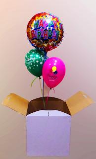 Воздушные шарики в коробке